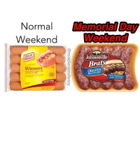 Cats, Memes, and Game: Normal MomotMDay  Weekend  Weekend  Oscar  Mauer  Johnsonville  Braisi  CLASSIC  Wieners  seer witH nnn AND  ORIGINAL  00023 POek  BRATWLRST  sankalar. Canaan  Only Premium  30 Servings  Cats (Pork  @middleclassfancy  旧 Gotta step your game up this weekend brochachos 😎