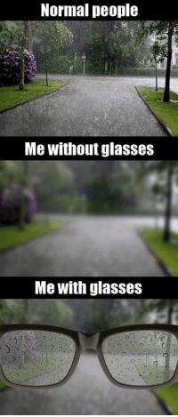 Tumblr, Blog, and Glasses: Normal people  Me without glasses  Me with glasses srsfunny:The Way People With Glasses See The World