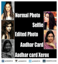 desifun: Normal Photo  Selfie  Edited Photo  Aadhar Card  Aadhar card Xerox  K @DESIFUN !可@DESIFUN  @DESIFUN-DESIFUN.COM desifun