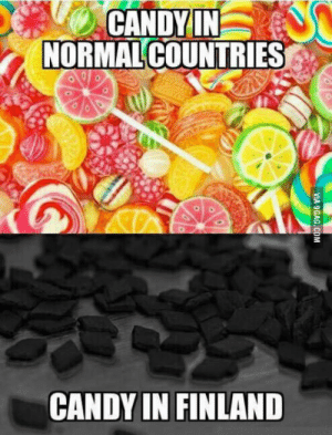 Melancholy, Finland, and  the Land: NORMALCOUNTRIES  CANDYIN FINLAND From the land of melancholy and thousand lakes