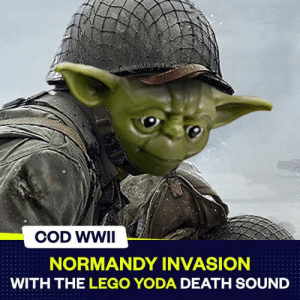 NORMANDY INVASION WITH THE LEGO YODA DEATH SOUND This ...