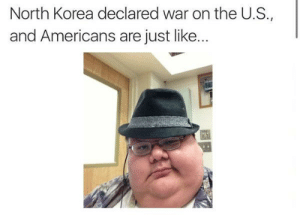 https://t.co/LWUMYyslbX: North Korea declared war on the U.S.,  and Americans are just like... https://t.co/LWUMYyslbX