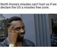 Memes, Free, and 🤖: North Korea's missles can't hurt us if we  declare the US a missles free zone.  peni  Mon (GC)