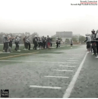 Football, Memes, and News: Norwalk, Connecticut  Norwalk High Football via Storyful  FOX  NEWS TURF & SURF: Norwalk High quarterback Kyle Gordon hydroplaned 10 yards on his chest across a waterlogged field in the pouring rain to close out football practice earlier this week.