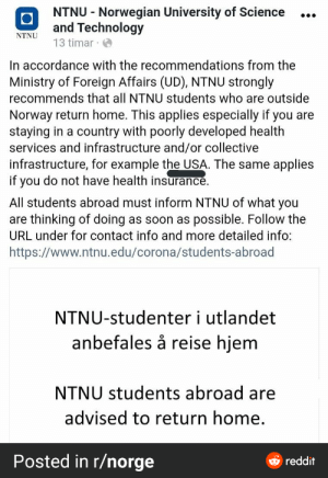 Norway's largest university sent this to all the students: Norway's largest university sent this to all the students