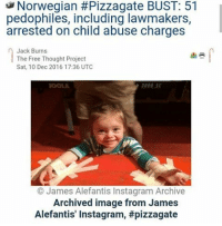 """👆👆👆 """"Fake News"""" since The Washington Post and NY Times likes to take down real news I guess I'll just get it from the fake news. As the old expression goes """"there's a special place in hell"""" for pedophiles. But hell for some infants, toddlers, children, and teenagers might be a little country called Norway. That's because the country just seized the largest amount of child pornography in the country's history! A whopping 150 terabytes were confiscated, the equivalent of over 35,000 child-porn DVDs! According to The Nordic Page, """"The material has led to charges of sexual intercourse and rape of children from infancy to 15 years, serious trafficking and production, storage and sharing of material depicting sexual abuse of children, and luring of children to show off or sending nude photos or masturbate over the internet. Police also found examples of offenders who have planned atrocities against their own children with other men."""" Fake News sources: SOTT.net and the FreeThoughtProject.com stayinformed paedophilegate: Norwegian #Pizzagate BUST: 51  pedophiles, including lawmakers,  arrested on child abuse charges  Jack Burns  The Free Thought Project  Sat, 10 Dec 2016 17:36 UTC  James Alefantis Instagram Archive  Archived image from James  Alefantis' Instagram, 👆👆👆 """"Fake News"""" since The Washington Post and NY Times likes to take down real news I guess I'll just get it from the fake news. As the old expression goes """"there's a special place in hell"""" for pedophiles. But hell for some infants, toddlers, children, and teenagers might be a little country called Norway. That's because the country just seized the largest amount of child pornography in the country's history! A whopping 150 terabytes were confiscated, the equivalent of over 35,000 child-porn DVDs! According to The Nordic Page, """"The material has led to charges of sexual intercourse and rape of children from infancy to 15 years, serious trafficking and production, storage and sharing of material depicting sexual ab"""