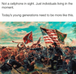 Bad, Dank Memes, and Living: Not a cellphone in sight. Just individuals living in the  moment.  Today's young generations need to be more like this. Phones bad