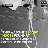 "Complex, Memes, and American: ""Not actual noose  THIS WAS THE SECOND  NOOSE  FOUND AT  THE SMITHSONIAN'S  MUSEUM coMPLEx  NOW  THIS A noose was found inside the National Museum of African American History and Culture in D.C. (via @nowthisnews )"