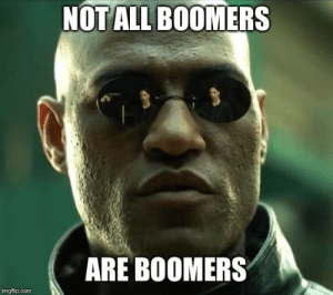 advice-animal:  Some of us are not complete bell-ends: NOT ALL BOOMERS  ARE BOOMERS  imgflip.com advice-animal:  Some of us are not complete bell-ends