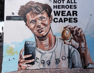 Graffiti, Memes, and Heroes: NOT ALL  HEROES  WEAR  CAPES  Chippen Lri Syndey graffiti is Mint