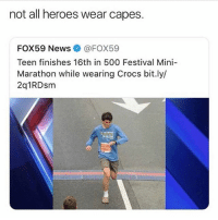 follow @iamathicchotdog, comment your size and get limited edition shrek crocs: not all heroes wear capes.  FOX59 News@FOX59  Teen finishes 16th in 500 Festival Mini-  Marathon while wearing Crocs bit.ly/  2q1RDsm follow @iamathicchotdog, comment your size and get limited edition shrek crocs