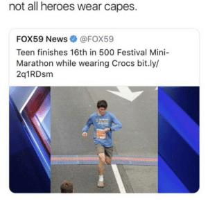 beyoncescock:i want limited edition shrek crocs in size 6: not all heroes wear capes.  FOX59 News@FOX59  Teen finishes 16th in 500 Festival Mini-  Marathon while wearing Crocs bit.ly/  2q1RDsm beyoncescock:i want limited edition shrek crocs in size 6