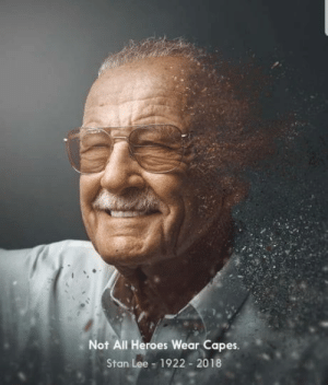 Stan, Stan Lee, and Heroes: Not All Heroes Wear Capes.  Stan Lee - 1922 2018 Sad day indeed