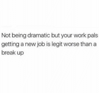 Memes, Work, and Break: Not being dramatic but your work pals  getting a new job is legit worse than a  break up You will be missed