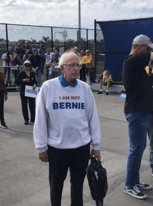 Not Bernie!: Not Bernie!