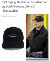 "*DUN DUN* @dadbrandapparel is Stabler approved 🔥🔥🔥🔥Grab now at link in my bio and use code GRAYFANG to save 15% ad: ""Not buying this hat is considered an  especially heinous offense""  -Elliot Stabler  @dadbrandapparel  Executive Producer  DICK WOLF *DUN DUN* @dadbrandapparel is Stabler approved 🔥🔥🔥🔥Grab now at link in my bio and use code GRAYFANG to save 15% ad"