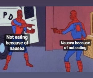 Dank, Memes, and Target: Not eating  because of  nausea  Nausea because  of not eating Eating nausea because not by rweeo MORE MEMES