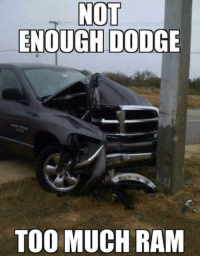 Doge: NOT  ENOUGH DODGE  TOO MUCH RAM