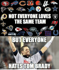 😎😂😂: NOT EVERYONE LOVES  THE SAME TEAM  1  BUT EVERYONE  As  HATESTOM BRADY  imgflip.com 😎😂😂
