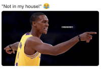"My House, Nba, and Rajon Rondo: ""Not in my house!""  @NBAMEMES Rajon Rondo after winning a game-winning shot on Celtics Nation."