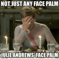 -Iceprincess: NOT JUST ANY FACE PALM  JULIE ANDREWS FACE PALM -Iceprincess