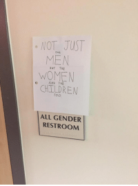 """Posted by Arun Bhopal in """"Just Jedi Memes"""": NOT JUST  MEN  WOMEN  CHILDREN  BuT THE  AND THE  TOO  ALL GENDER  RESTROOM Posted by Arun Bhopal in """"Just Jedi Memes"""""""