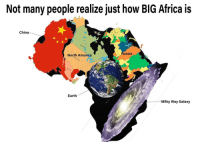 Africa, America, and Instagram: Not many people realize just how BIG Africa is  China  ussia  North America  Earth  Milky Way Galaxy @see_more is easily one of the funniest accounts on instagram