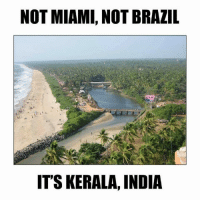 Brazil: NOT MIAMI, NOT BRAZIL  IT SKERALA, INDIA