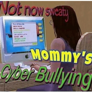Tumblr, Blog, and Media: Not nows  ca  Mommy'S  Cber Bulying traqqot: