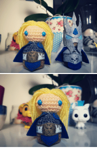 Not perler beads! But i made Arthas evolution to the darkness in crochet! Hope you like him >.<: Not perler beads! But i made Arthas evolution to the darkness in crochet! Hope you like him >.<