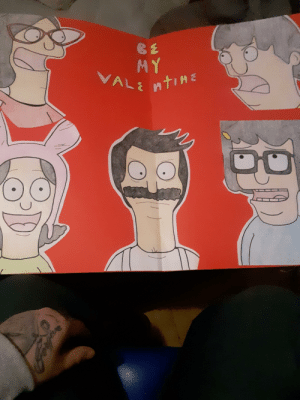 Not really an artist but I made this for my gf for today. A Bob's burger menu valentine.: Not really an artist but I made this for my gf for today. A Bob's burger menu valentine.