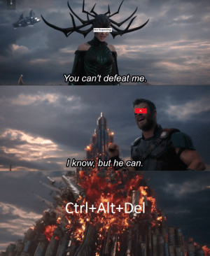 Memes, Thor, and Invest: (Not Responding)  You can't defeat me.  0 know, but he can.  Ctrl+Alt+Del INVEST IN THOR RAGNAROK MEMES!