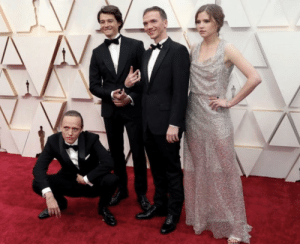Not Russia but Slav - Polish actor from oscar nominated movie squatting on red carpet: Not Russia but Slav - Polish actor from oscar nominated movie squatting on red carpet