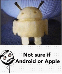 Android, Apple, and Memes: Not sure if  Android or Apple Follow my cousin @im.high.bro