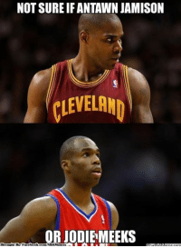Meme, Nba, and Book: NOT SURE IF ANTAWN JAMISON  CLEVELAND  ORIODIEMEEKS  book Can't tell if...