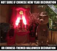 Wah piang eh!! Scary sial!!!! 😱😱: NOT SURE IF CHINESE NEW YEAR DECORATION  Submitted by Allen  OR CHINESE-THEMED HALLOWEEN DECORATION Wah piang eh!! Scary sial!!!! 😱😱