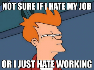 Job, Working, and Not Sure If: NOT SURE IF I HATE MY JOB  ORI JUST HATE WORKING