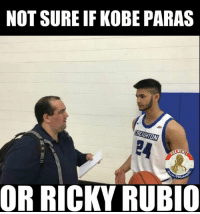Kobe, Filipino (Language), and Pba: NOT SURE IF KOBE PARAS  REGION  OR RICKY RUBIO Sa unang tingin parang si Ricky Rubio. 😂