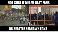 Nfl, Miami, and Seahawk: NOT SURE IF MIAMI HEAT FANS  @NFL MEMES  OR SEATTLE SEAHAWK FANS Or both...