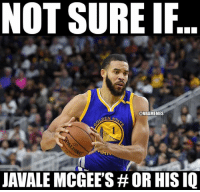 Chill, Nba, and No Chill: NOT SURE IF  @NBAMEMES  JAVALE MCGEES OR HISIQ No chill. #Warriors Nation
