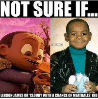 😂: NOT SURE IF  NBAMEMES  LEBRON JAMES OR CLOUDY WITH A CHANCE OF MEATBALLS KID 😂