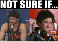 Kevin Love's new perm be like... #Cavs Nation: NOT SURE  IF  ONBAMEMMES  CA Kevin Love's new perm be like... #Cavs Nation
