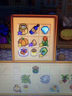 Not the best picture, but I scored a 104 at the stardew valley fair with this! I just started playing around a week ago and i'm on Fall year 2. This game has honestly been my saving grace during this time. I love it!: Not the best picture, but I scored a 104 at the stardew valley fair with this! I just started playing around a week ago and i'm on Fall year 2. This game has honestly been my saving grace during this time. I love it!