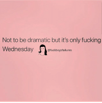 Fucking, Wednesday, and Girl Memes: Not to be dramatic but it's only fucking  Wednesday  @fuckboysfailures