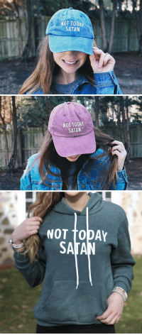 Love, Memes, and Today: NOT TODAY  SATAN   NOT TODAY  SATAN   NOT TODAY RT @JennaMcAvoy1: I'm in LOVE with the Not Today Satan Collection from https://t.co/IfawO6No0L 😍 https://t.co/RkecpEJyA5