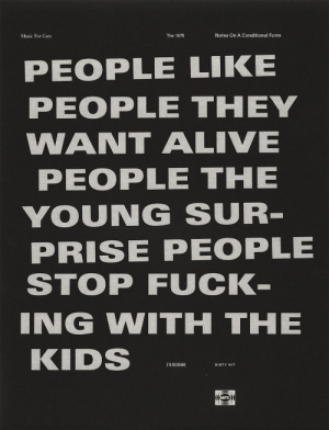The Young: Notes On A Conditional Form  Music For Cars  The 1975  PEOPLE LIKE  PEOPLE THEY  WANT ALIVE  PEOPLE THE  YOUNG SUR  PRISE PEOPLE  STOP FUCK  ING WITH THE  KIDS  DH00566  DIRTY HIT  MFC
