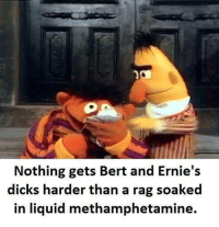 Sent in by a fan.: Nothing gets Bert and Ernie's  dicks harder than a rag soaked  in liquid methamphetamine. Sent in by a fan.