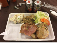 Memes, Turkey, and 🤖: Nothing say 'Merica more than pressed turkey roll and Rip-Its!  Happy Thanksgiving my fellow deployed Fuckers!  DV Curtis