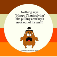 """happy thanksgiving: Nothing says  """"Happy Thanksgiving""""  like pulling a turkey's  neck out of it's ass!!!  welsart creation coma"""