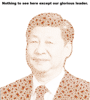Let's get China to ban china: Nothing to see here except our glorious leader. Let's get China to ban china